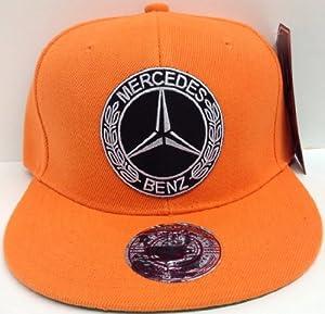 Custom orange mercedes benz snapback hat cap logo amazon for Mercedes benz snapback