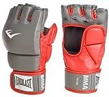 Everlast Train Advanced MMA 7-Ounce Grappling / Training Gloves (Red/Grey, Small/Medium)
