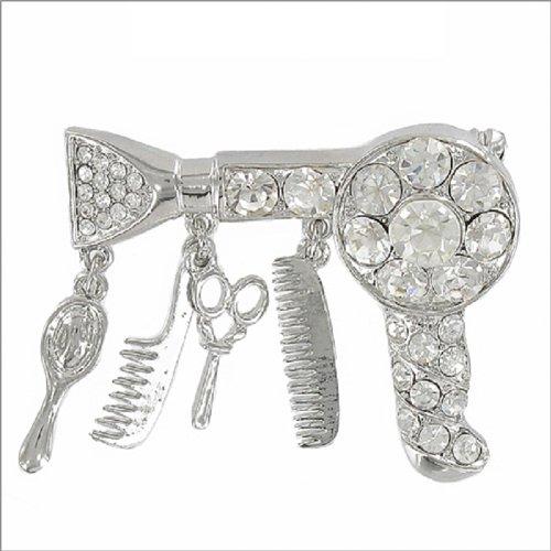 Hair Stylist Theme Multi Charm Pin #041151