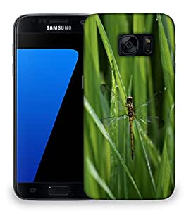 Snoogg Dragonfly In Green Grass Designer Protective Phone Back Case Cover For Samsung Galaxy S7