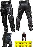 Helmets.jp     オートバイレーシングPU革レザー   パンツ    黒  ブラック     XXL(ウエスト98 太腿周り68 総丈 108 股下78)size