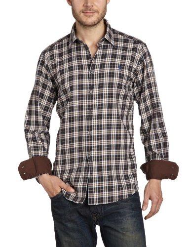 Otto Kern Men's 50026 / 13015 Casual Shirt Brown (710Mokka) 39/40