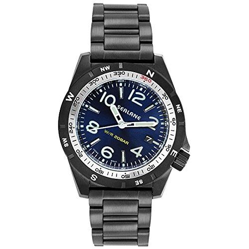 [シーレーン]SEALANE 腕時計 20BAR 簡易方位ベゼル N夜光 SE40-MBL メンズ