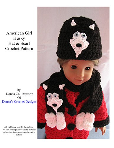 American Girl Doll Husky Hat and Scarf Crochet Pattern