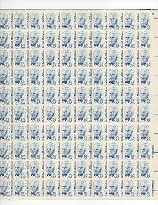 Robert Millikan Sheet of 100 x37 Cent US Postage Stamps NEW Scot 1866