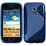 PhoneNatic Samsung Galaxy Ace 2 Hülle Silikon blau S-Style Case Galaxy Ace 2 Tasche