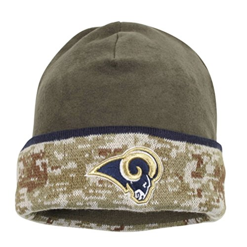 New Era St Louis Rams Camo 2014 Salute to Services Fleece Knit Beanie Hat (2014 Salute Service compare prices)