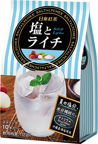 日東紅茶 塩とライチ スティック 10本入り×3個
