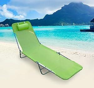 Chaise longue transat lit de plage pliable neuf quotes for Chaise longue plage pliable