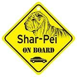 KC Creations Shar-Pei On Board Dog Sign Gift