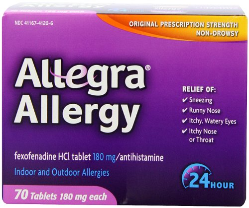 Allegra Adult 24 Hour Allergy Tablets, 180Mg,