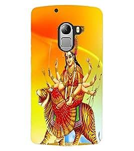 ColourCraft Maa Sherawali Design Back Case Cover for LENOVO VIBE X3 LITE