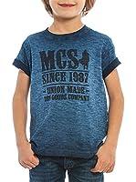 M C S Camiseta Manga Corta Jersey Slub (Azul Royal)