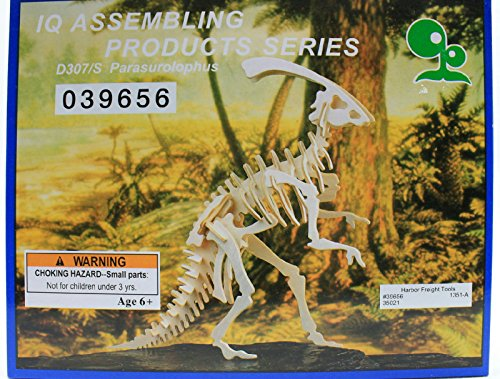 IQ Assembling Products Series Balsa Wood 3D Puzzle Parasurolophus