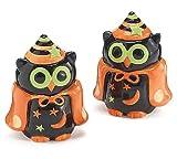 Whimsical Owl Salt and Pepper Shaker Halloween Decor