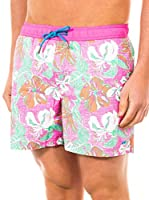 McGregor Short de Baño Boris Grand Bf (Fucsia / Multicolor)