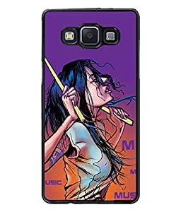Fuson Music Lover Girl Back Case Cover for SAMSUNG GALAXY A5 - D3921