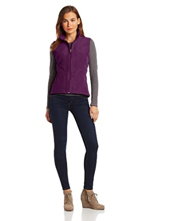 Woolrich Women's Andes Fleece Vest, Eggplant, Small