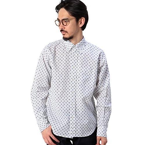 (コーエン) COEN コットンリネン小紋プリントボタンダウンシャツ 75106055041 01 White S