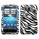 Snap-on Hard Phone Protector Case Cover For HTC Inspire 4G- Zebra Skin