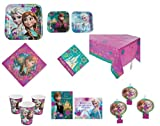 Disney Frozen Party Pack (81 Pieces Set) Party for 8/ Tableware/Invitation/Thank you Cards/Blow outs