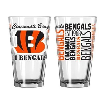 NFL Bengals - Spirit Pint Glasses (2) | Cincinnati Bengals Pint Glass Gift Set