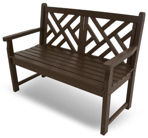 POLYWOOD CDB48MA Chippendale 48″ Bench, Mahogany