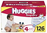 Huggies Snug & Dry Diapers, Size 4, 126-Count