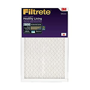 Filtrete Healthy Living Ultra Allergen Reduction Filter, MPR 1500, 15 x 2 x 1-Inches, 6-Pack