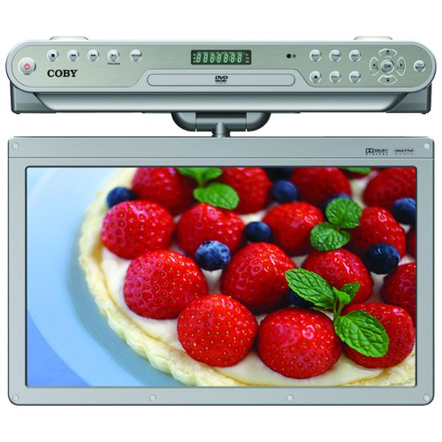 Sale!! Coby KTFDVD1560SVR 15.6-Inch Under-the-Cabinet DVD/CD Player