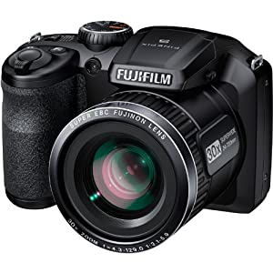 Fujifilm FinePix S4800 / S4850 - 16 Megapixel CCD Digital Camera with 30x Zoom, HD Video Recording, 3-inch LCD Display - Black (Certified Refurbished)