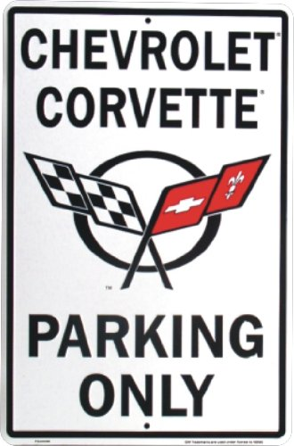 chevrolet-corvette-parking-only-metal-sign