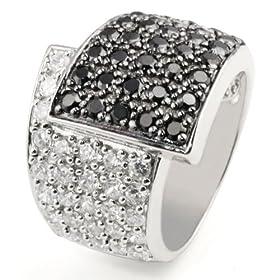 goldmaid Pa R413S54 - Black & White - Anillo de mujer de plata de ley con 81 circonitas anillo mujer barato woman cheap ring