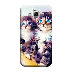 Desicase Samsung Core Prime G360 Happiest Kittens Love 3D Matte Finishing Printed Designer Hard Back Case Cover (Multicolor)