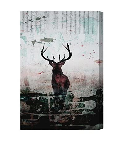 Oliver Gal Red Stag Canvas Art