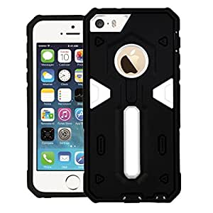 CUBIX® iPhone 5s Case, [Dual Layer] [Shockproof] Armor Hybrid Defender Anti-Drop Rugged Protective Bumper Case Back cover For Apple iPhone 5s (White)