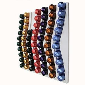 NESPRESSO 60 COFFEE CAPSULE WHITE WALL MOUNTED HOLDER
