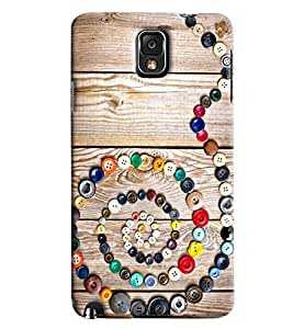 Blue Throat Snake Made Of Buttons Printed Designer Back Cover For Samsung Galaxy Note 3