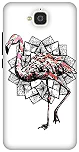 The Racoon Lean Fractal Flamingo hard plastic printed back case / cover for Huawei Honor Holly 2 Plus