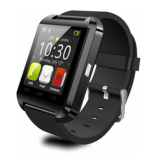 """Premium 1.5"""" Touch Screen Bluetooth Smart Wrist Watch for Android & iOS smart phones (Black)"""