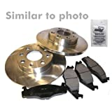 Brake discs solid Ã300mm + Brake pads rear axle MERCEDES-BENZ E-CLASS W211 E 200 CDI/COMPRESSORm E 220 CDI,E 240,E 270 CDI,E 320 BJ 02-09 + ESTATE S211 E 200 CDI/COMPRESSOR,E 220 CDI,E 240 T,350 CGI