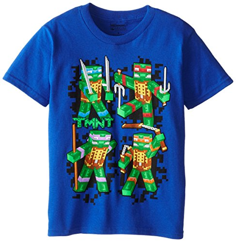 Teenage Mutant Ninja Turtles Big Boys' TMNT Pixalated Group Short Sleeve Tee