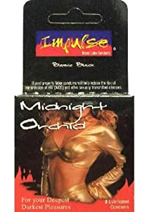 Little Flirt Impulse Condom Midnight Orchid Lubricated, 3 Count