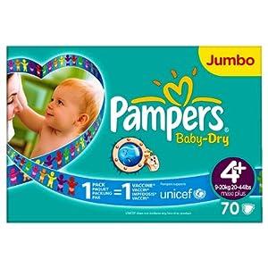 pampers baby dry size 4 9 20kg jumbo pack 70 per pack. Black Bedroom Furniture Sets. Home Design Ideas