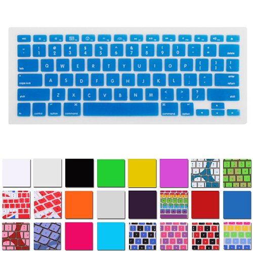 Hde Silicone Rubber Keyboard Skin For Macbook Pro (Non-Retina) (Ocean Blue)