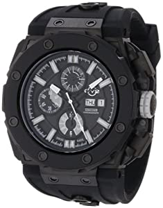 Gv2 Corsaro Men's Automatic Watch with Black Dial Analogue Display and Black Rubber Strap 8804
