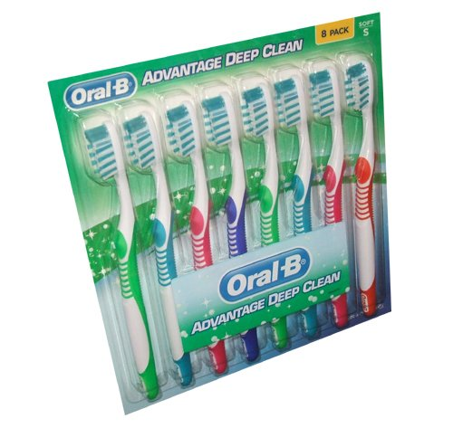 Oral B - Advantage Plus Toothbrushes Soft (8 pack)