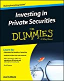 img - for Investing in Private Securities For Dummies book / textbook / text book