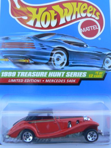 Hot Wheels 1999 Treasure Hunt Series Mercedes 540k, #1 of 12 Cars, #929 - 1