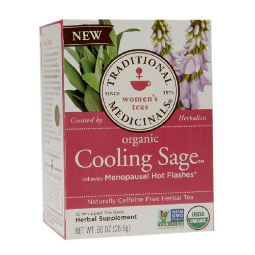 Traditional Medicinals Relieve Menopausal Hot Flashes Organic Cooling Sage Women'S Teas 16 Ea Pack Of 4
